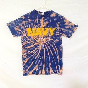 Custom dyed Navy tiedye tshirt